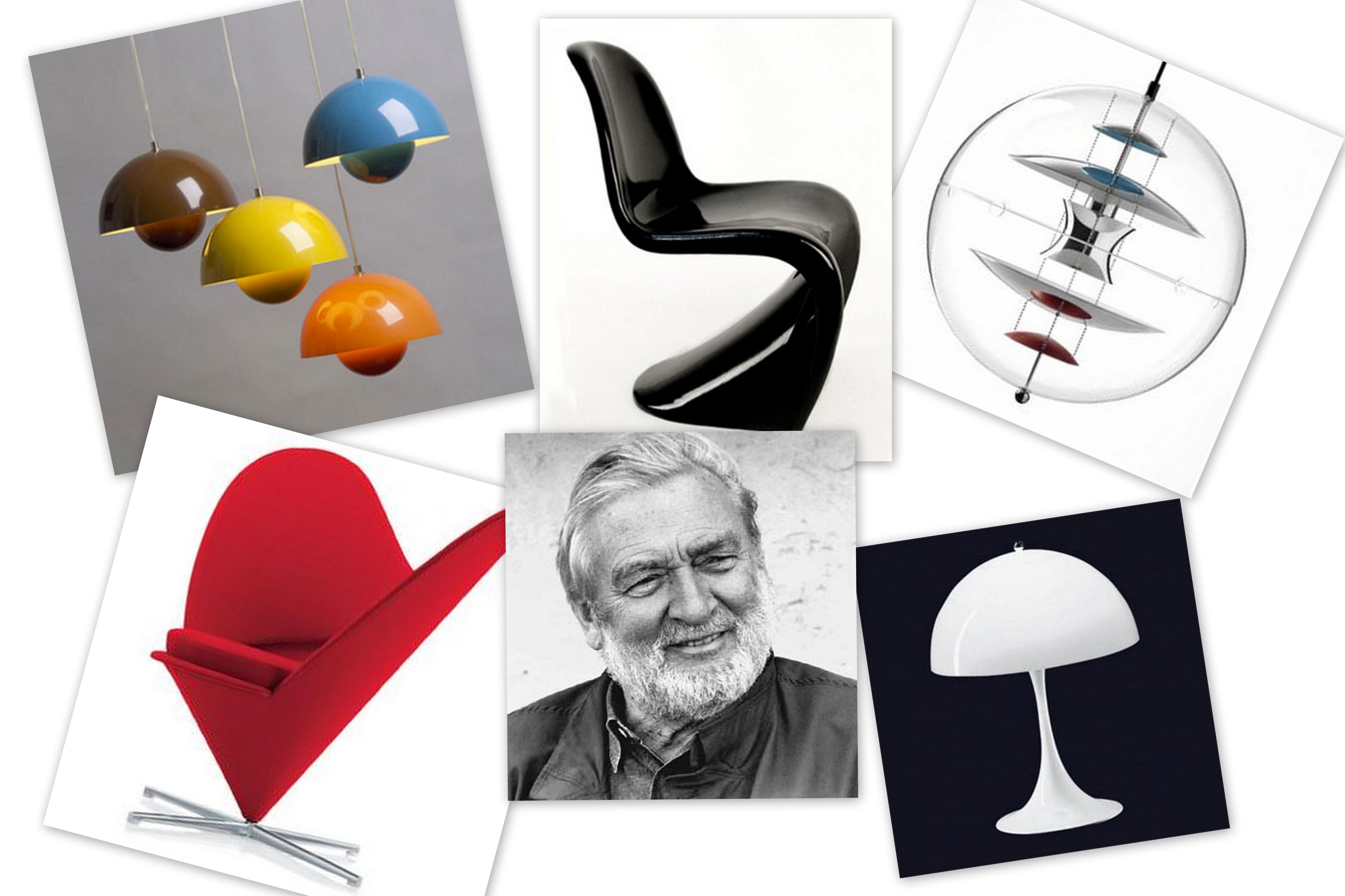 replica verner panton fun 0 dm lamp buy in online shop price order online. Black Bedroom Furniture Sets. Home Design Ideas